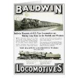 Trabajos de la locomotora de vapor de Baldwin Tarjeta Pequeña