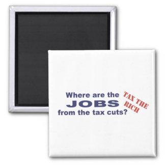 ¿Trabajos de las reducciones de impuestos? Imán Cuadrado