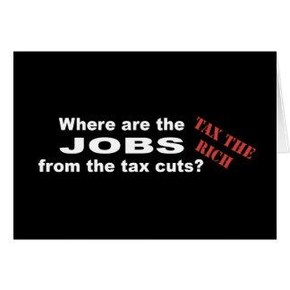 ¿Trabajos de las reducciones de impuestos? Felicitación