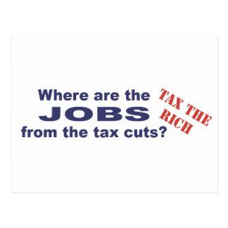 ¿Trabajos de las reducciones de impuestos? Postal