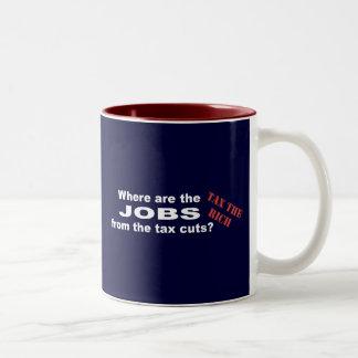 ¿Trabajos de las reducciones de impuestos? Taza De Dos Tonos