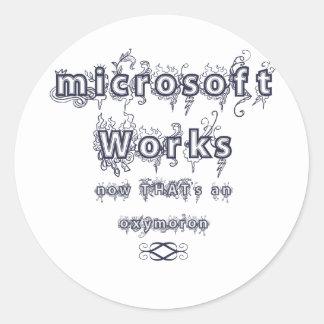 trabajos de Microsoft: Oxymoron Etiqueta Redonda