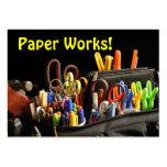 ¡Trabajos de papel! Arte Tarjetas De Visita Grandes