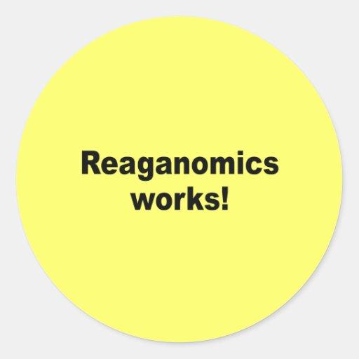 Trabajos de Reaganomics Pegatina Redonda
