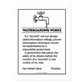 Trabajos de Waterboarding Postal