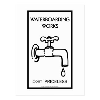 Trabajos de Waterboarding Tarjeta Postal