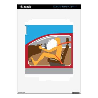 Trabajos del cinturón de seguridad del saco iPad 3 skin