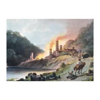 Trabajos del hierro, Coalbrookdale Impresión En Lienzo