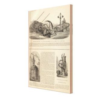 Trabajos del hierro de Delamater Lienzo Envuelto Para Galerías