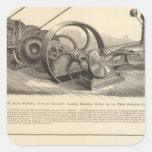Trabajos del hierro de Delamater Pegatina Cuadrada
