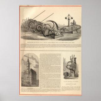 Trabajos del hierro de Delamater Posters