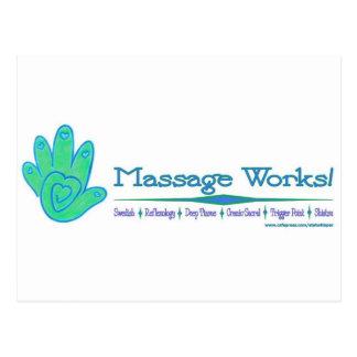 ¡Trabajos del masaje! Postales