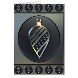 Trabajos del metal - ornamento tarjeta de felicitación