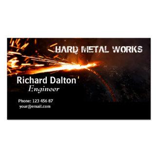 Trabajos del metal tarjetas de visita