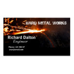 Trabajos del metal tarjetas personales