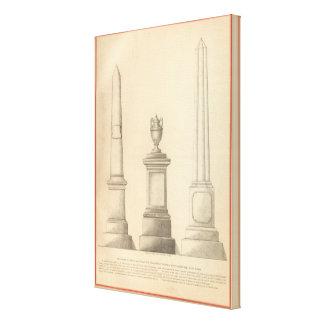 Trabajos del monumento del mármol y del granito de lienzo envuelto para galerías