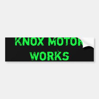 Trabajos del motor de Knox Pegatina Para Auto