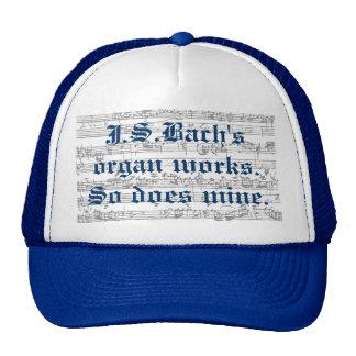 Trabajos del órgano de J.S.bach Gorras