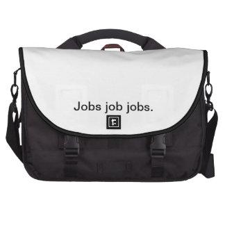 Trabajos del trabajo de los trabajos bolsas de portatil