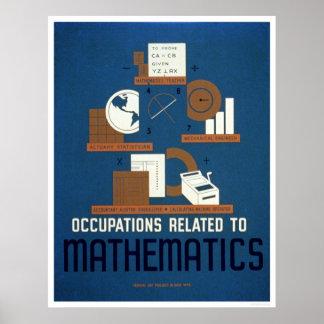 Trabajos en las matemáticas WPA 1937 Impresiones