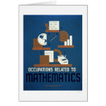 Trabajos en las matemáticas WPA 1937 Tarjeta De Felicitación