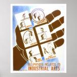 Trabajos industriales de los artes WPA 1936 Posters