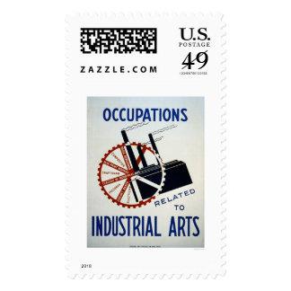 Trabajos industriales de los artes WPA 1937 Sellos