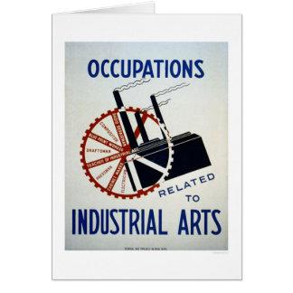 Trabajos industriales de los artes WPA 1937 Tarjeta