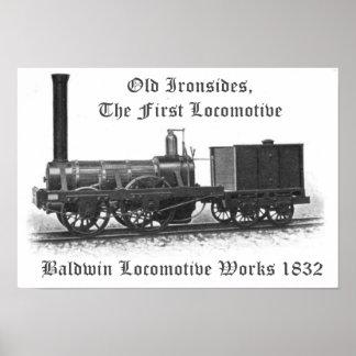 Trabajos locomotores de Baldwin, viejo hombre fuer Impresiones