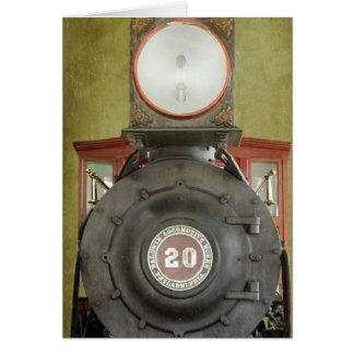 Trabajos locomotores tarjeta de felicitación