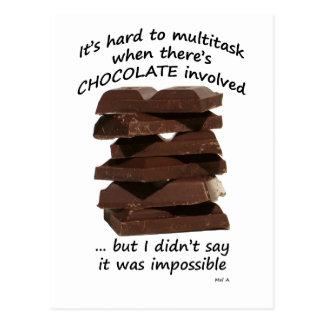Trabajos múltiple con el chocolate postal