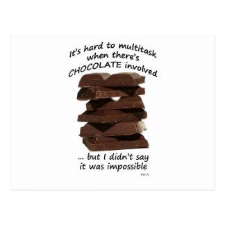 Trabajos múltiple con el chocolate tarjetas postales