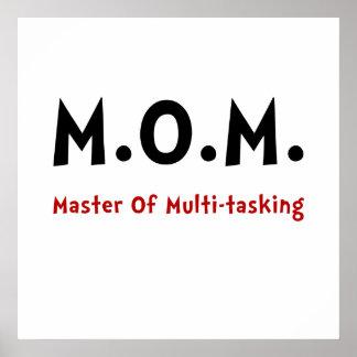 Trabajos múltiple de la mamá póster