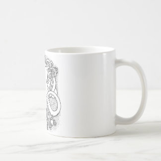 Trabajos múltiple del pulpo taza básica blanca