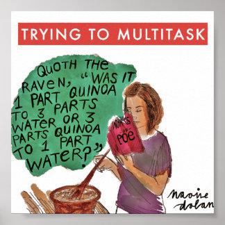 Trabajos múltiple del ratón de biblioteca póster