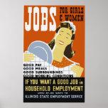 Trabajos para los chicas y el poster de las mujere