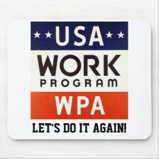 Trabajos Progrerss Admin de WPA. ¡DEJE LOS E.E.U.U Mousepad