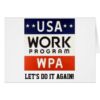 Trabajos Progrerss Admin de WPA. ¡DEJE LOS Tarjeta De Felicitación