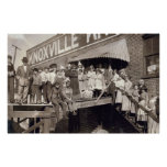 Trabajos que hacen punto de Knoxville, 1910 Poster