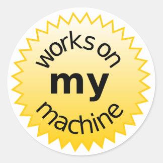 trabajos sobre mi máquina pegatina redonda