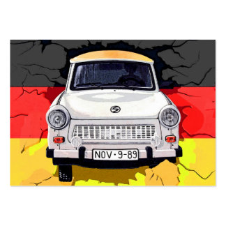 Trabant Car and German Flag, Berlin Wall Large Business Cards (Pack Of 100)