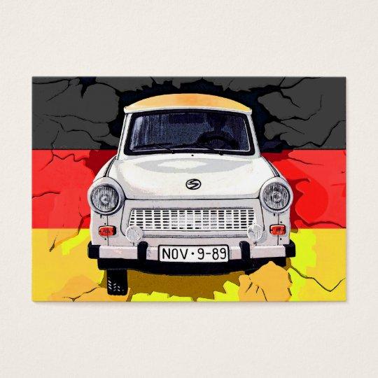 Trabant Car and German Flag, Berlin Wall Business Card