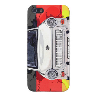 Trabant Car and German Flag, Berlin Wall Case For iPhone SE/5/5s