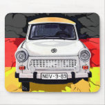 Trabant Car and German Flag, Berlin Wall Mouse Pads