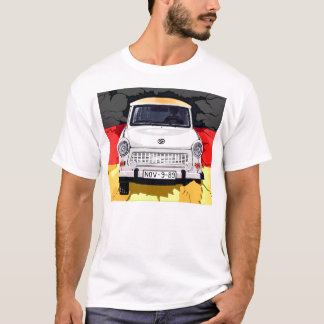 Trabant Car and German Flag, Berlin Wall T-Shirt