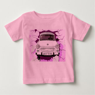 Trabant Car and Pink/Lilac Berlin Wall Baby T-Shirt