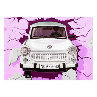 Trabant Car and Pink/Lilac Berlin Wall Large Business Cards (Pack Of 100)