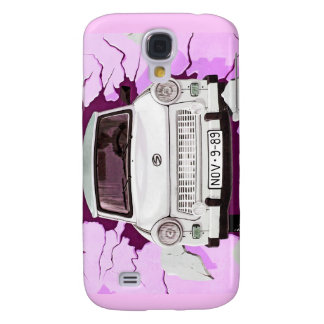 Trabant Car and Pink/Lilac Berlin Wall Samsung Galaxy S4 Cover