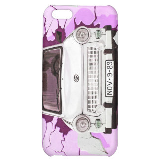 Trabant Car and Pink/Lilac Berlin Wall iPhone 5C Case