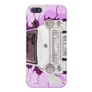 Trabant Car and Pink/Lilac Berlin Wall iPhone SE/5/5s Cover